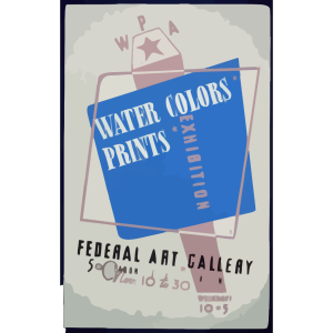 Wpa Water Colors, Prints Exhibition, Federal Art Gallery  / Hg [monogram]. icon png