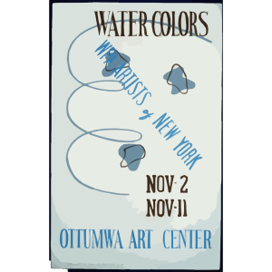 Water Colors, Wpa Artists Of New York, Ottumwa Art Center  / Designed & Made By Iowa Art Program, W.p.a. icon png