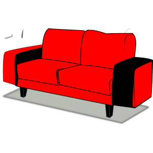 Red Couch icon png