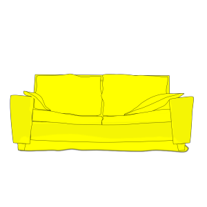Yellow Couch icon png