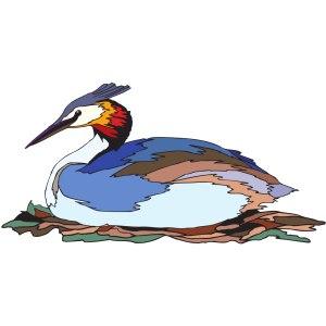 Resting Grebe icon png