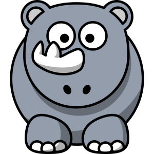 Studiofibonacci Cartoon Rhino icon png