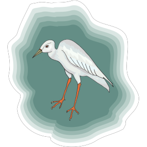 Heron With Green Background icon png