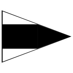 Black And White Signal Flag icon png