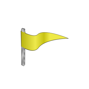 Waving Yellow Flag icon png