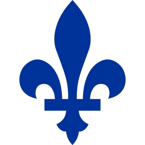 Blue Fleur De Lis In The Style Of The Flag Of Quebec icon png