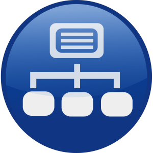 Blue Network Diagram icon png