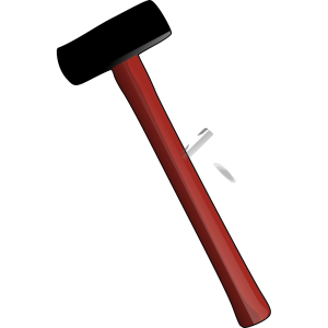Red Sledgehammer icon png