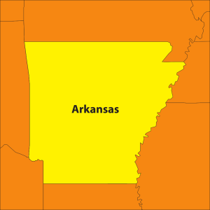 Arkansas Map And Flower icon png
