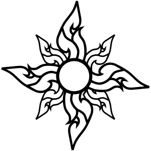 Flower Star Outline icon png