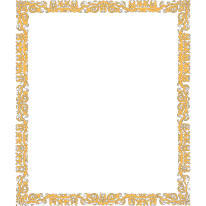 Gold Cool Border icon png