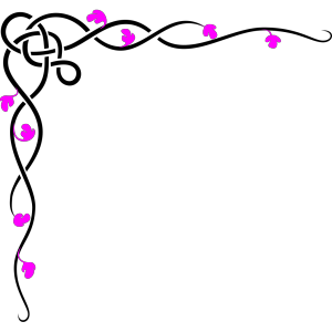 Black And Pink Border icon png