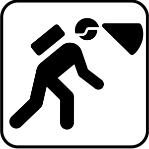Walking In The Dark With Light In Helmet icon png