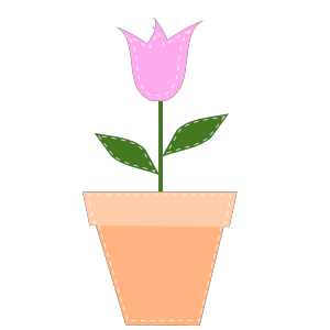 Pink Tulip In Flower Pot icon png