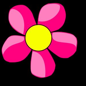 Hot pink flower png svg clip art for web download clip art png hot pink flower icon png 200 x 198 px mightylinksfo
