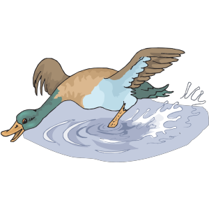 Happy Running Duck icon png