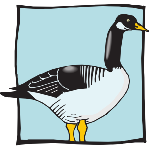 Duck With Blue Background icon png