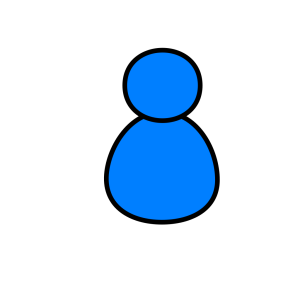 Blue User icon png