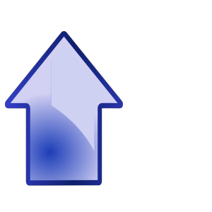 Big Blue Up Arrow icon png