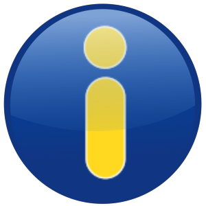 Info Blue icon png