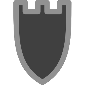 Chess Rook Black icon png