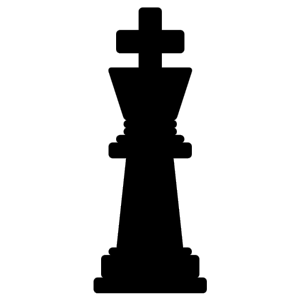 Chess King Black icon png