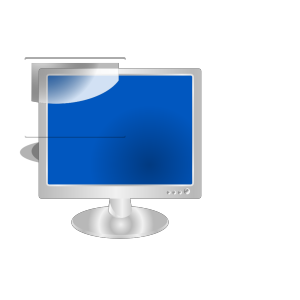 Blue Monitor icon png