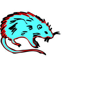 Hot Blue Rat icon png