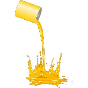 Paint Bucket Spilling icon png
