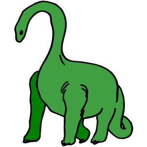 Green Long Necked Dinosaur icon png