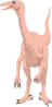 Pink Long Necked Dinosaur icon png