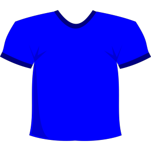 Blue T-shirt icon png