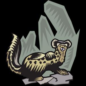 Stylized Ferret Art icon png