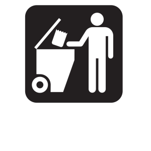 Trash Dumpster Black icon png