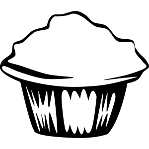 Generic Muffin (b And W) icon png