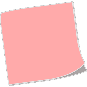 Blank Sticky Note icon png