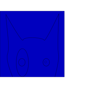 Blue Terrier Line Draw Face icon png