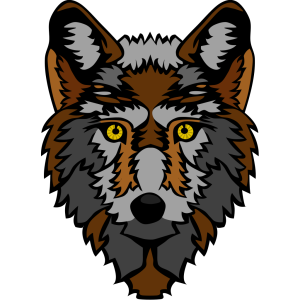 Brown And Gray Wolf Head