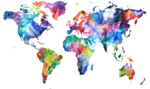 Abstract World Map PNG Free Download icon png