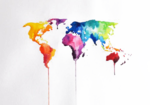 Abstract World Map PNG HD icon png