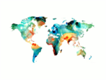 Abstract World Map PNG Image icon png