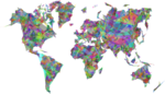 Abstract World Map PNG Transparent icon png