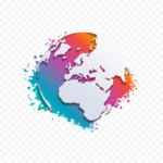 Abstract World Map Transparent PNG icon png