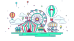 Amusement Park Background PNG icon png