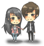 Anime Love Couple PNG Image icon png