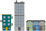Apartment Transparent Background icon png