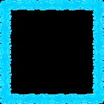 Aqua Border Frame PNG Transparent Image icon png