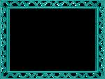 Aqua Border Frame Transparent Background icon png