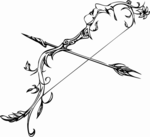 Arrow Bow PNG Clipart icon png