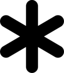 Asterisk Background PNG icon png